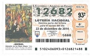 Loteria Navidad Federacion 2014